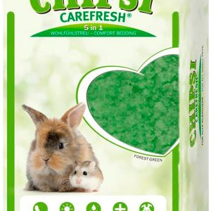 Chipsi CareFresh Forest Green наполнитель-подстилка натуральный на бумажной основе для мелких домашних животных и птиц зеленый (14 л)