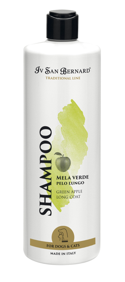 Isb Traditional Line Green Apple Shampoo Ив Сан Бернард шампунь с ароматом зеленого яблока для длинношерстных собак и кошек (500 мл)